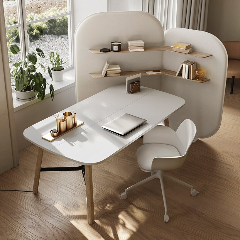 patrick norguet reconciles living + work spaces in new collection for natuzzi italia